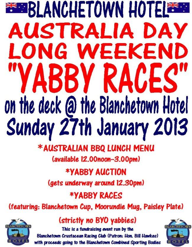 Yabby Races
